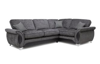 Left Hand Facing 3 Seater Deluxe Corner Formal Back Sofa Bed Avici