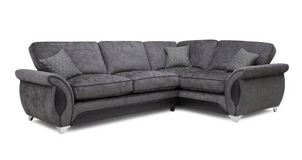 Avici Left Hand Facing 3 Seater Deluxe Corner Formal Back Sofa Bed
