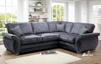 Avici Left Hand Facing 3 Seater Deluxe Corner Formal Back Sofa Bed Avici