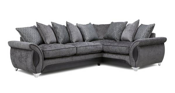 Avici Left Hand Facing 3 Seater Deluxe Corner Pillow Back Sofa Bed