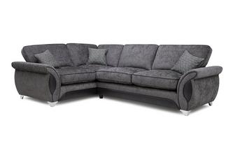 Right Hand Facing 3 Seater Deluxe Corner Formal Back Sofa Bed Avici