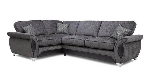 Avici Right Hand Facing 3 Seater Deluxe Corner Formal Back Sofa Bed