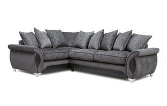 Right Hand Facing 3 Seater Deluxe Corner Pillow Back Sofa Bed Avici
