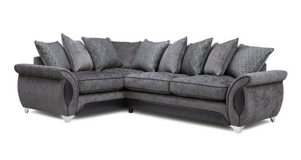 Avici Right Hand Facing 3 Seater Deluxe Corner Pillow Back Sofa Bed