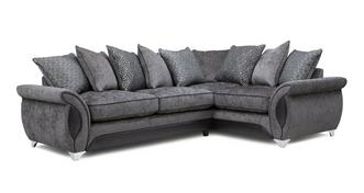 Avici Left Hand Facing 3 Seater Supreme Corner Pillow Back Sofa Bed
