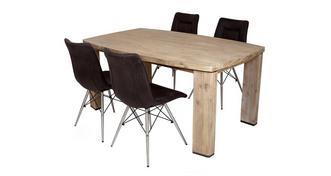 Ayan Eettafel en reeks van 4 stoelen