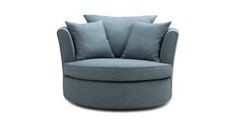 Ayda Large Swivel Chair with Plain Scatters