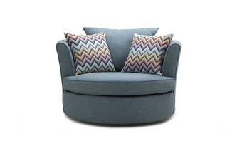 Large Swivel Chair with Pattern Scatters Revive