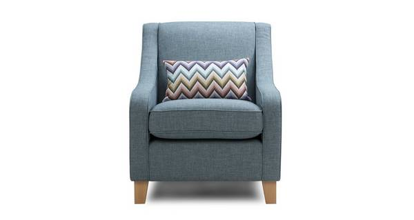 Ayda Accent Chair with Pattern Bolster