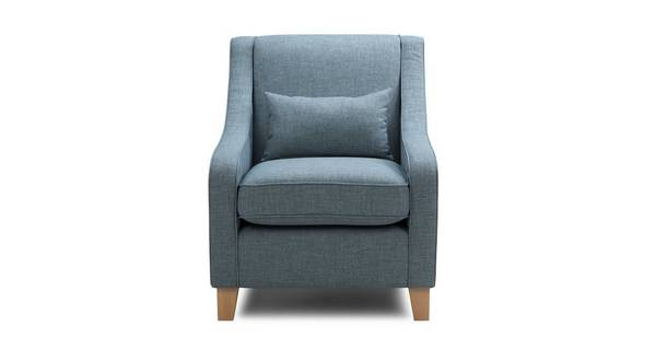 Ayda Accent Chair with Plain Bolster