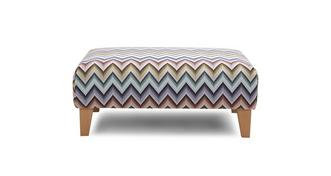 Ayda Pattern Banquette Footstool