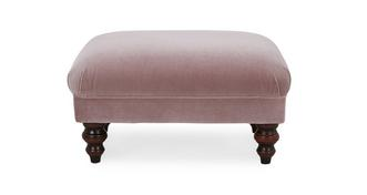 Bailey Velvet Small Footstool