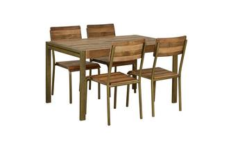 Medium Fixed Top Table & Set of 4 Chairs