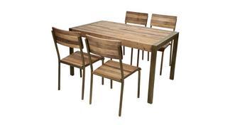 Barclay Kleine vaste eettafel en reeks van 4 stoelen