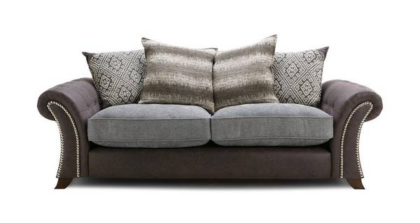 Barnaby 3 Seater Pillow Back Sofa