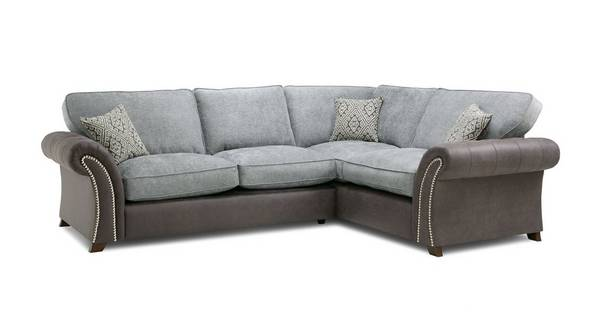 Barnaby Left Hand Facing 3 Seater Formal Back Deluxe Corner Sofa Bed