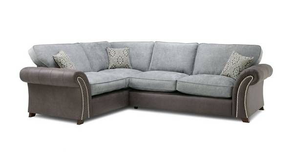 Barnaby Right Hand Facing 3 Seater Formal Back Deluxe Corner Sofa Bed