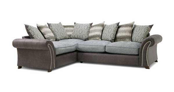 Barnaby Right Hand Facing 3 Seater Pillow Back Deluxe Corner Sofa Bed