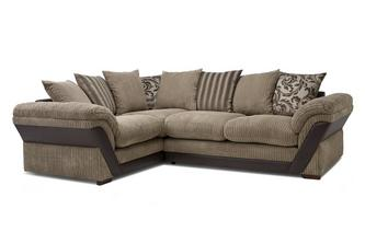Pillow Back Right Hand Facing Deluxe Corner Sofa Bed