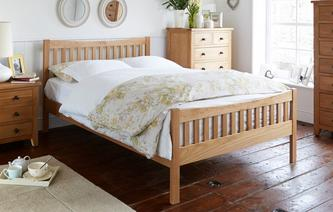 Barnhouse Double (4 ft 6) Shaped Bedframe Barnhouse