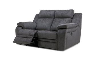 2 Seater Manual Recliner Barrett Plain
