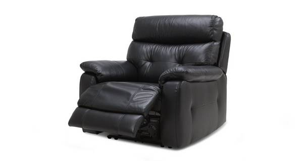 Bartley Leather and Leather Look Electric Recliner Chair