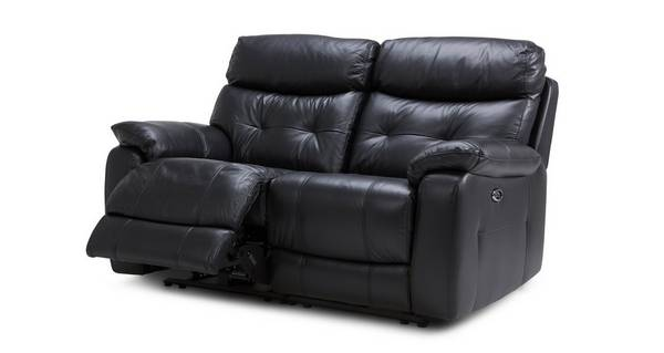 Bartley Leather and Leather Look 2 Seater Electric Recliner