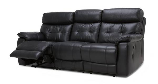 Bartley Leather and Leather Look 3 Seater Manual Recliner