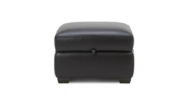 Bartley Leather and Leather Look Storage Footstool
