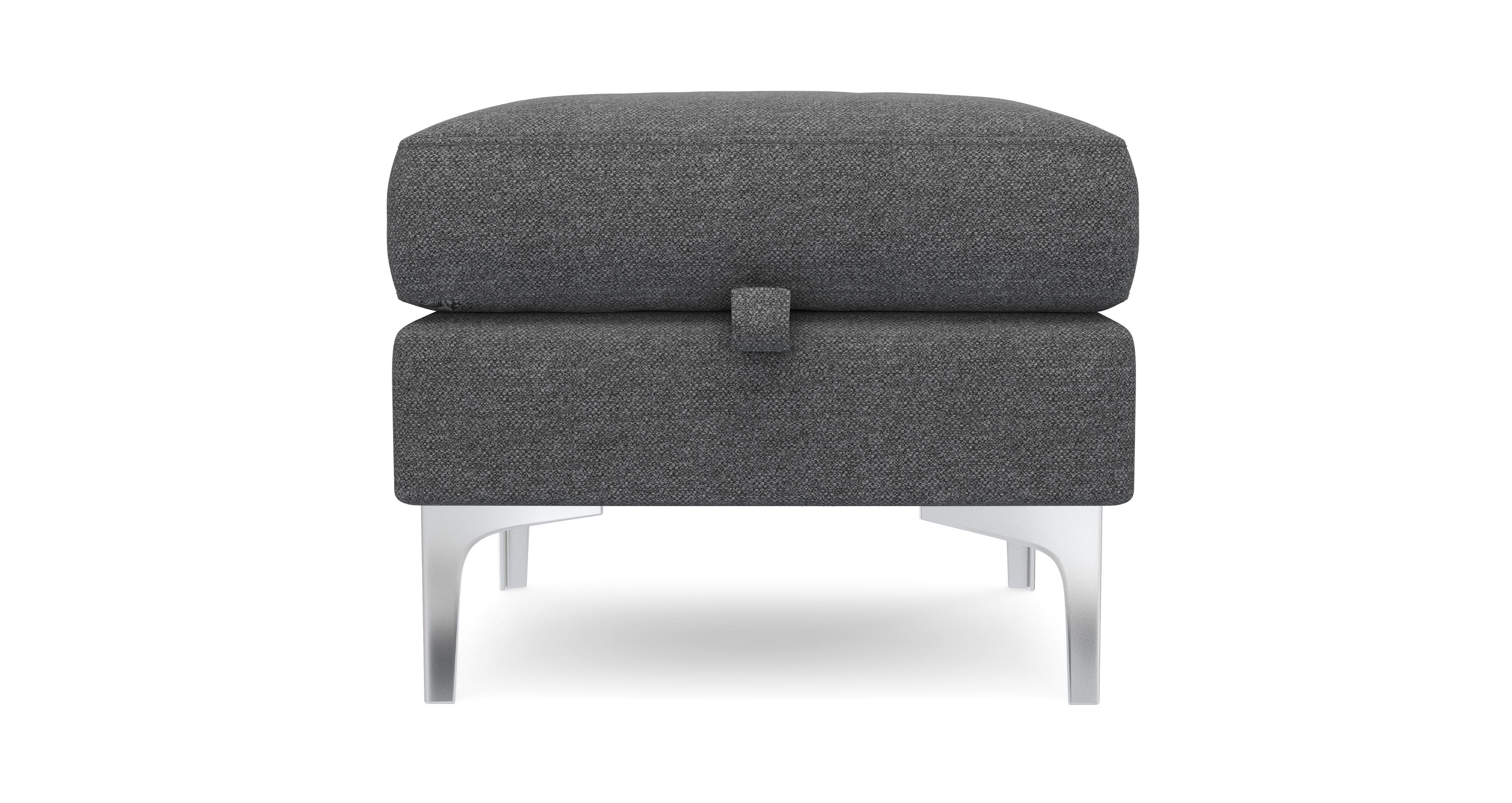 Bask Storage Footstool Textured Weave Dfs