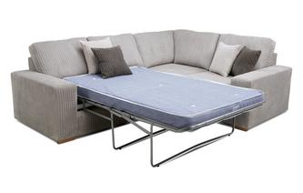 Left Hand Facing 2 Seater Deluxe Corner Sofa Bed