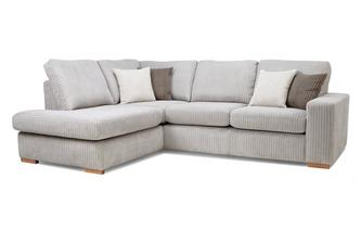 Right Hand Facing Arm Open End Deluxe Corner Sofa Bed Marley