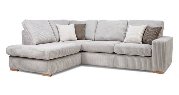 Baxter Right Hand Facing Arm Open End Deluxe Corner Sofa Bed