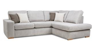 Baxter Left Hand Facing Arm Open End Deluxe Corner Sofa Bed