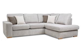 Left Hand Facing Arm Open End Deluxe Corner Sofa Bed Marley