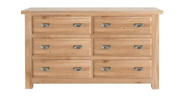 Bay Side Wide Chest with 6 Drawers