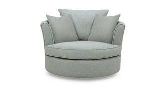 Beau Large Swivel Chair with Plain Scatters