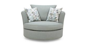 Beau Large Swivel Chair with Pattern Scatters