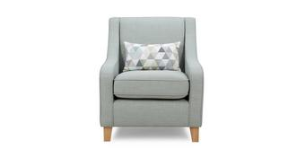 Beau Accent Chair with 1 Pattern Bolster