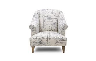 Script Accent Chair