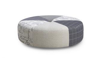 Pattern Round Footstool Beaumont