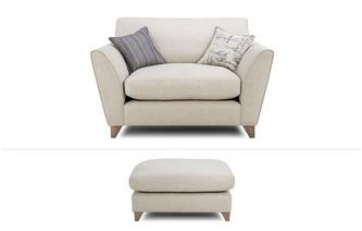 Beaumont Clearance Cuddler Chair & Large Footstool Beaumont