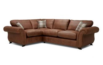 Bedford Formal Back Right  Hand Facing 3 Seater Corner Sofa Bed Oakland