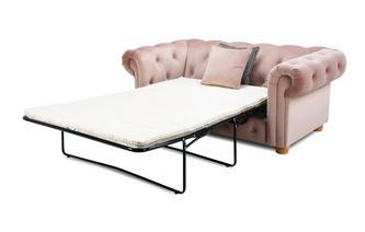 Velvet 2 Seater Sofa Bed