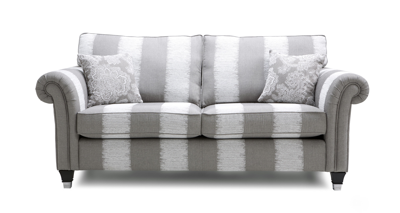 Bellagio Stripe 3 Seater Formal Back Sofa Bellagio Stripe | DFS