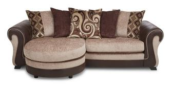 Belle 4 Seater Pillow Back Lounger
