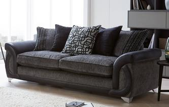 Fabric sofas that are perfect for your home dfs for Perez 4 seater pillow back sectional sofa
