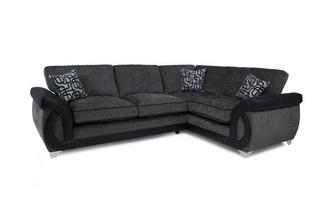 Left Hand Facing 3 Seater Formal Back Corner Sofa Bellini