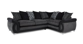 Bellini Left Hand Facing 3 Seater Pillow Back Corner Sofa