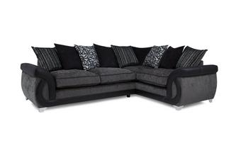 Left Hand Facing 3 Seater Pillow Back Corner Sofa Bellini